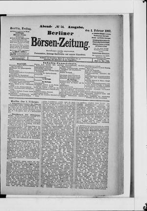 Berliner Börsen-Zeitung vom 01.02.1907