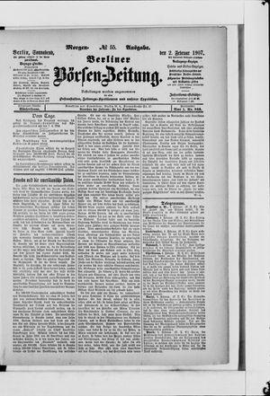 Berliner Börsen-Zeitung vom 02.02.1907
