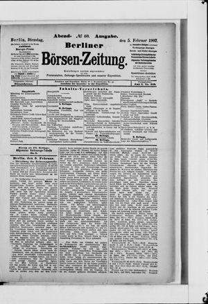 Berliner Börsen-Zeitung vom 05.02.1907