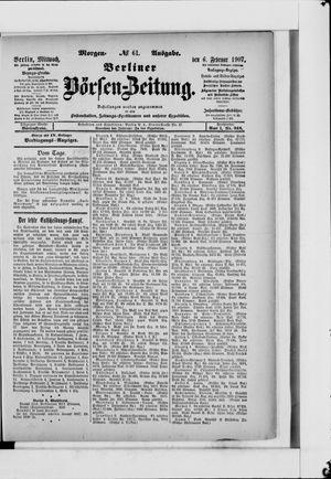 Berliner Börsen-Zeitung vom 06.02.1907