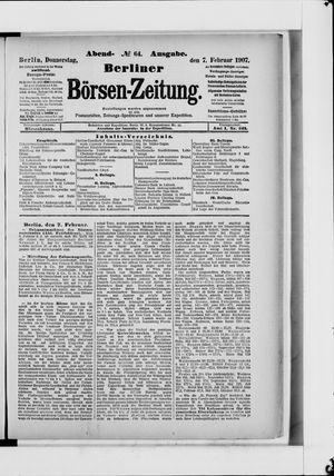 Berliner Börsen-Zeitung vom 07.02.1907