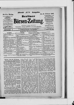 Berliner Börsen-Zeitung vom 11.02.1907