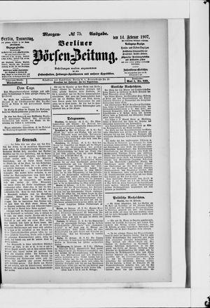 Berliner Börsen-Zeitung vom 14.02.1907