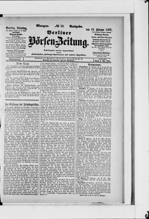 Berliner Börsen-Zeitung vom 19.02.1907