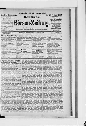 Berliner Börsen-Zeitung vom 21.02.1907