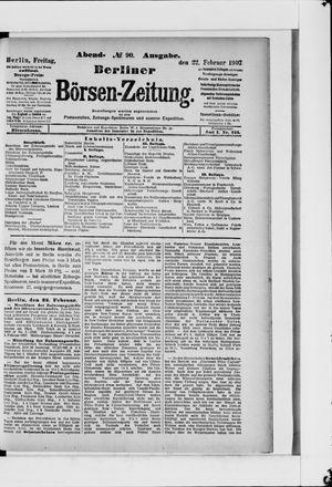 Berliner Börsen-Zeitung vom 22.02.1907