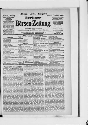 Berliner Börsen-Zeitung vom 25.02.1907