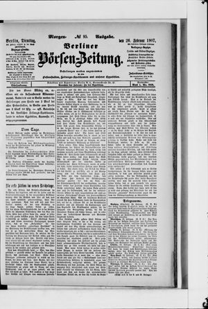Berliner Börsen-Zeitung vom 26.02.1907