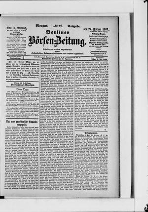 Berliner Börsen-Zeitung vom 27.02.1907