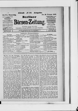 Berliner Börsen-Zeitung vom 28.02.1907