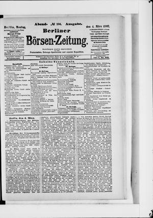 Berliner Börsen-Zeitung vom 04.03.1907
