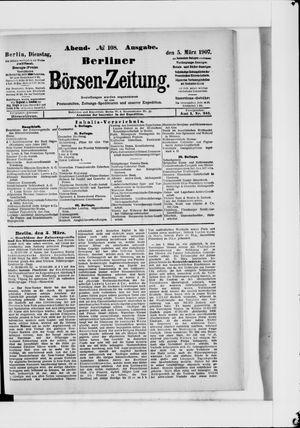 Berliner Börsen-Zeitung vom 05.03.1907