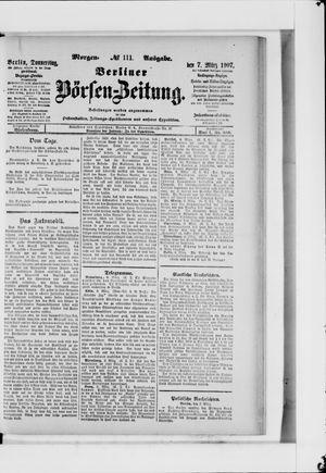 Berliner Börsen-Zeitung vom 07.03.1907