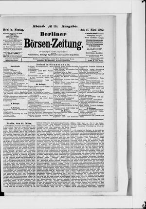 Berliner Börsen-Zeitung vom 11.03.1907