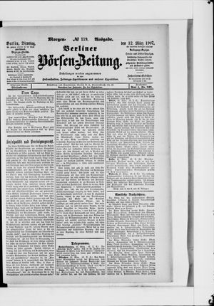 Berliner Börsen-Zeitung vom 12.03.1907