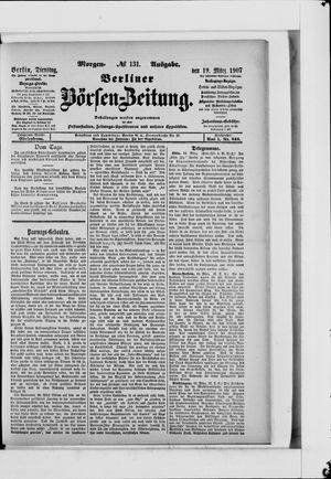 Berliner Börsen-Zeitung vom 19.03.1907