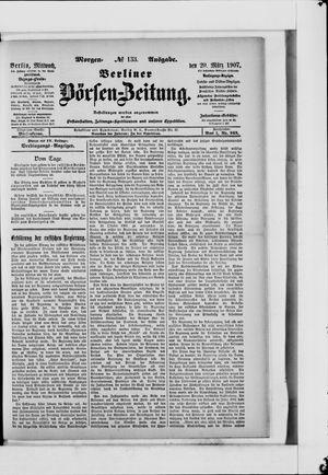 Berliner Börsen-Zeitung vom 20.03.1907