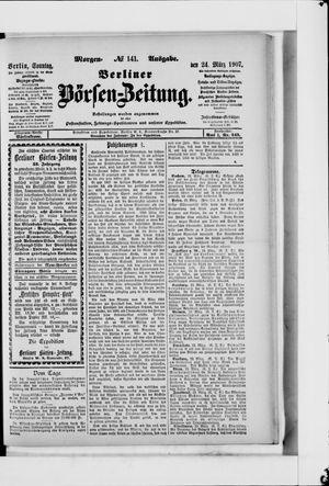 Berliner Börsen-Zeitung vom 24.03.1907