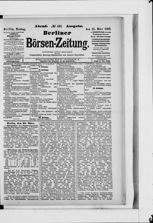 Berliner Börsen-Zeitung vom 25.03.1907