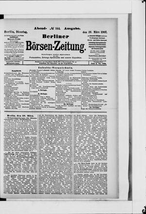 Berliner Börsen-Zeitung vom 26.03.1907