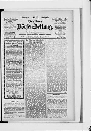 Berliner Börsen-Zeitung vom 28.03.1907