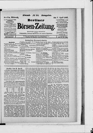 Berliner Börsen-Zeitung vom 03.04.1907