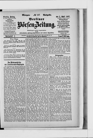 Berliner Börsen-Zeitung vom 05.04.1907