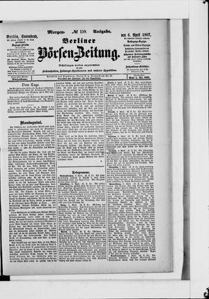 Berliner Börsen-Zeitung vom 06.04.1907