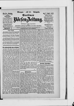Berliner Börsen-Zeitung vom 07.04.1907