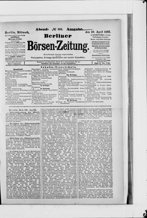 Berliner Börsen-Zeitung vom 10.04.1907
