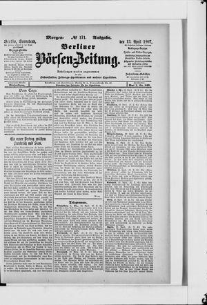 Berliner Börsen-Zeitung vom 13.04.1907