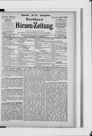 Berliner Börsen-Zeitung vom 15.04.1907