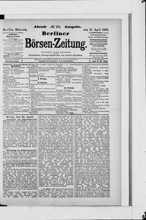 Berliner Börsen-Zeitung vom 17.04.1907