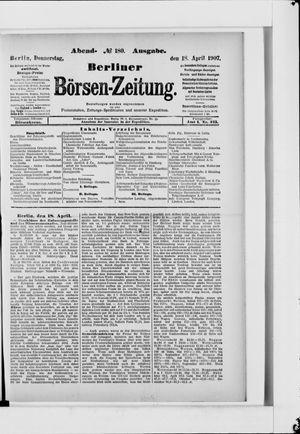 Berliner Börsen-Zeitung vom 18.04.1907