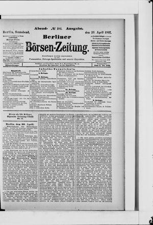 Berliner Börsen-Zeitung vom 20.04.1907