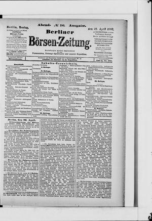 Berliner Börsen-Zeitung vom 22.04.1907