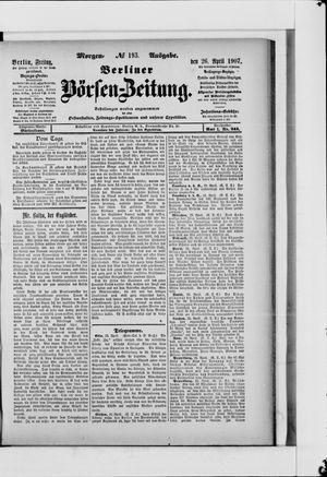 Berliner Börsen-Zeitung vom 26.04.1907