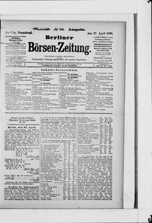 Berliner Börsen-Zeitung vom 27.04.1907
