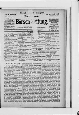 Berliner Börsen-Zeitung vom 30.04.1907