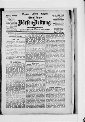 Berliner Börsen-Zeitung vom 01.05.1907