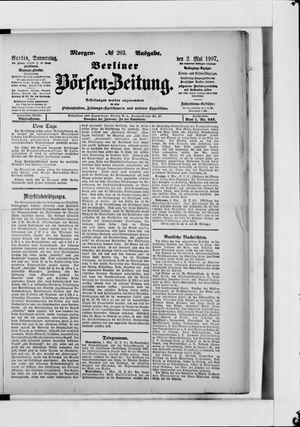 Berliner Börsen-Zeitung vom 02.05.1907