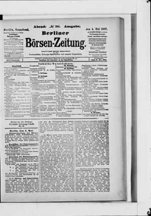 Berliner Börsen-Zeitung vom 04.05.1907