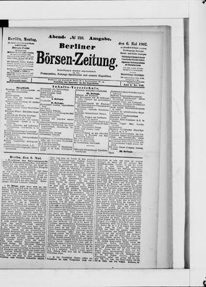 Berliner Börsen-Zeitung vom 06.05.1907