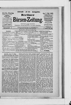 Berliner Börsen-Zeitung vom 07.05.1907