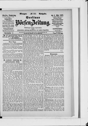 Berliner Börsen-Zeitung vom 09.05.1907