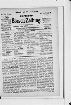 Berliner Börsen-Zeitung vom 10.05.1907