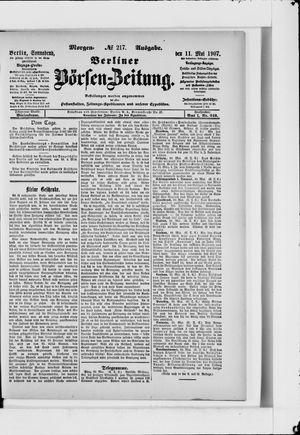 Berliner Börsen-Zeitung vom 11.05.1907