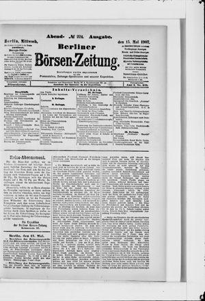 Berliner Börsen-Zeitung vom 15.05.1907