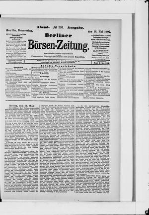 Berliner Börsen-Zeitung vom 16.05.1907