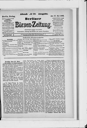 Berliner Börsen-Zeitung vom 17.05.1907